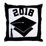 Class of 2018 Grad Hat Throw Pillow