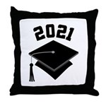 Class of 2021 Grad Hat Throw Pillow