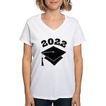 Class of 2022 Grad Hat Women's V-Neck T-Shirt
