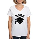 Class of 2023 Grad Hat Women's V-Neck T-Shirt