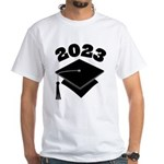 Class of 2023 Grad Hat White T-Shirt