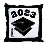 Class of 2023 Grad Hat Throw Pillow