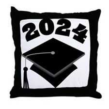 Class of 2024 Grad Hat Throw Pillow
