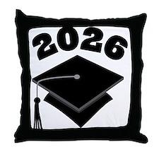 Class of 2026 Grad Hat Throw Pillow