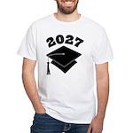 Class of 2027 Grad Hat White T-Shirt