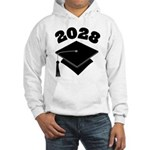 Class of 2028 Grad Hat Hooded Sweatshirt