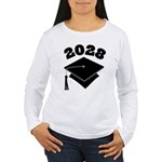 Class of 2028 Grad Hat Women's Long Sleeve T-Shirt