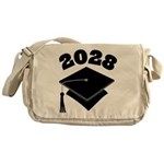 Class of 2028 Grad Hat Messenger Bag