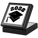 Class of 2028 Grad Hat Keepsake Box