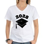 Class of 2028 Grad Hat Women's V-Neck T-Shirt