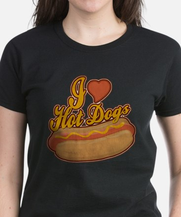 ILoveHotdogs.png Women's Dark T-Shirt