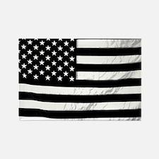 Black and White Flag Rectangle Magnet