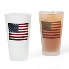 Vintage, American Flag Drinking Glass