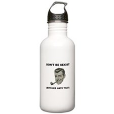 Dont Be Sexist Black.png Water Bottle
