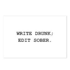Edit Sober Black.png Postcards (Package of 8)