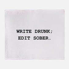 Edit Sober Black.png Throw Blanket