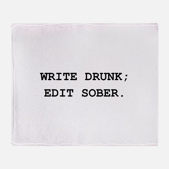 Edit Sober Black.png Throw Blanket