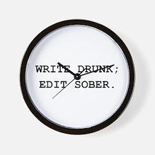Edit Sober Black.png Wall Clock