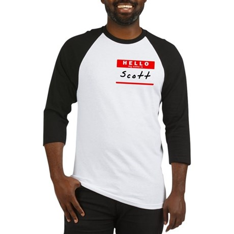 Scott, Name Tag Sticker Baseball Jersey