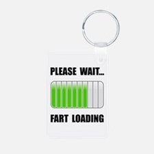 Fart Loading Black.png Keychains