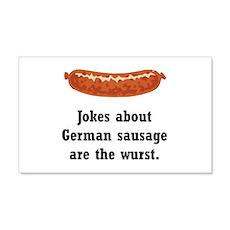 German Sausage Black.png 22x14 Wall Peel
