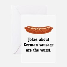 German Sausage Black.png Greeting Card