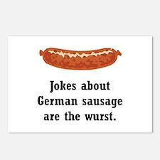 German Sausage Black.png Postcards (Package of 8)