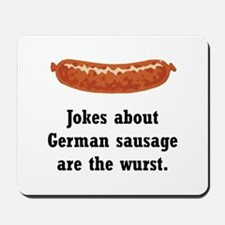 German Sausage Black.png Mousepad