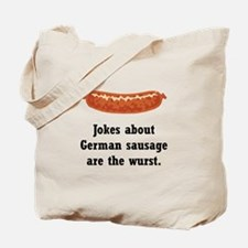 German Sausage Black.png Tote Bag
