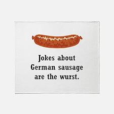 German Sausage Black.png Throw Blanket