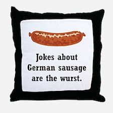 German Sausage Black.png Throw Pillow
