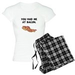 Had Me At Bacon Black.png Women's Light Pajamas