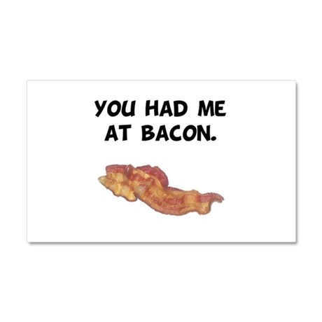 Had Me At Bacon Black.png Car Magnet 20 x 12