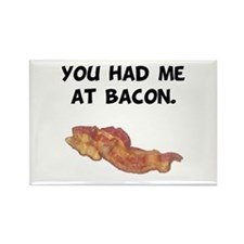 Had Me At Bacon Black.png Rectangle Magnet (10 pac