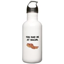 Had Me At Bacon Black.png Water Bottle