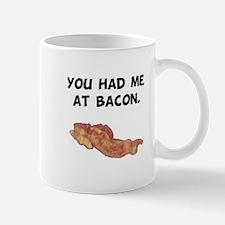 Had Me At Bacon Black.png Mug