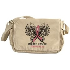 Butterfly Breast Cancer Messenger Bag