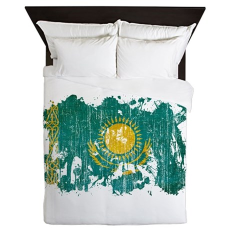 Kazakhstan Flag Queen Duvet