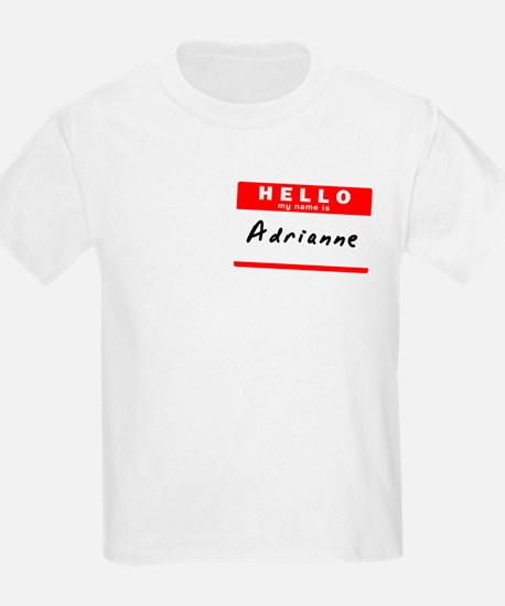 Adrianne, Name Tag Sticker T-Shirt