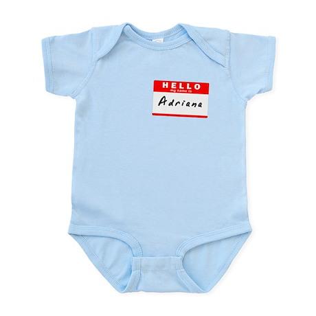 Adriana, Name Tag Sticker Infant Bodysuit