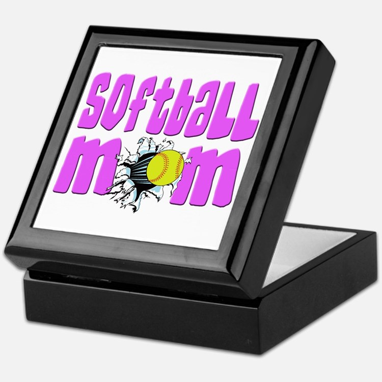 Softball mom Keepsake Box