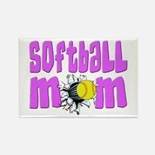 Softball mom Rectangle Magnet