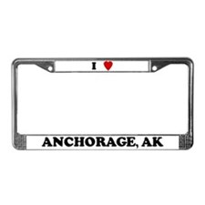 I Love Anchorage License Plate Frame