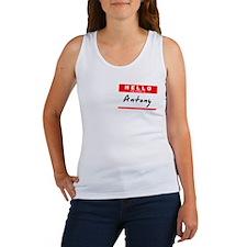 Antony, Name Tag Sticker Women's Tank Top