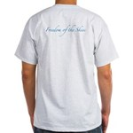 Square OP Logo BW/Freedom of Skies on Back T-Shirt
