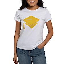Gold Grad Hat Gift Tee