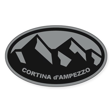 Cortina d'Ampezzo Sticker (Oval)