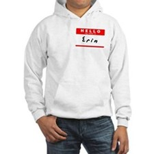 Erin, Name Tag Sticker Jumper Hoody