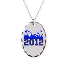 2012 Graduation Necklace Oval Charm