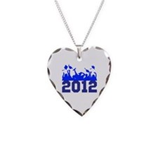 2012 Graduation Necklace Heart Charm